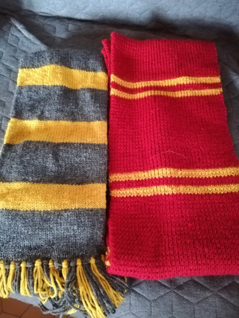 écharpes harry potter tricot