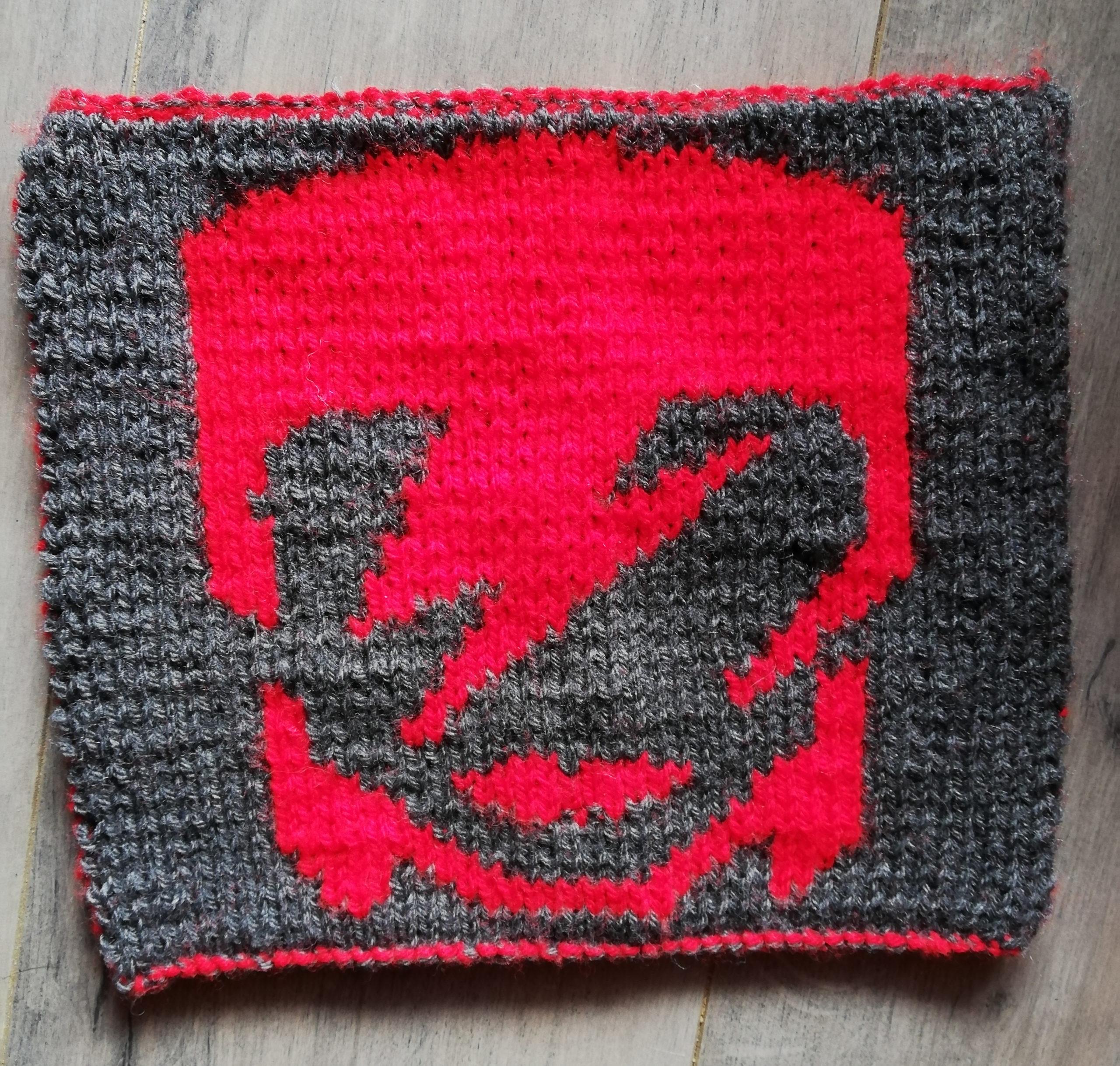 Carré Bowie tricot