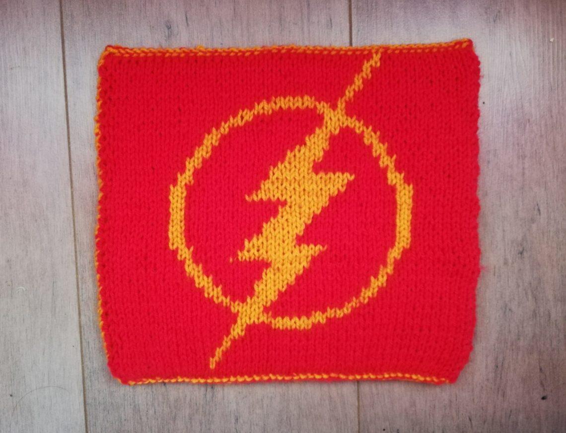 Carré The Flash au tricot