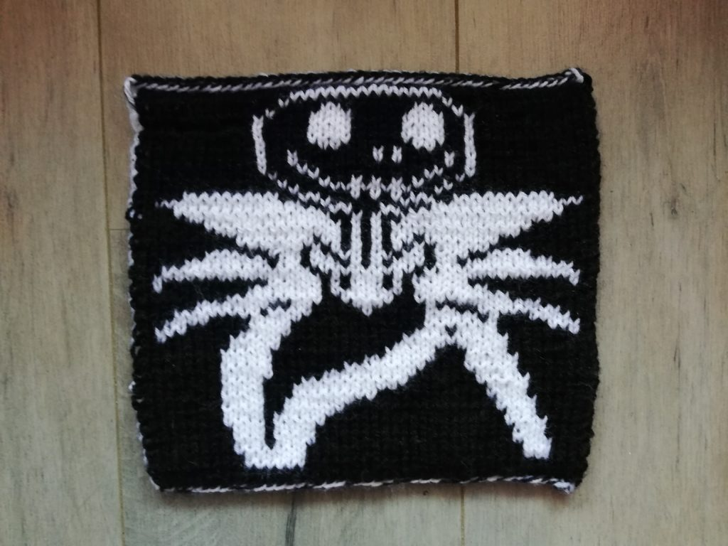 carré Jack Skellington au tricot