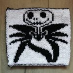 carré Jack Skellington au tricot