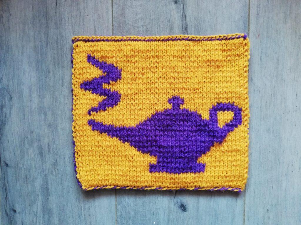 carré Aladdin au tricot