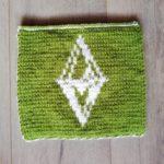 Carré Les Sims au tricot