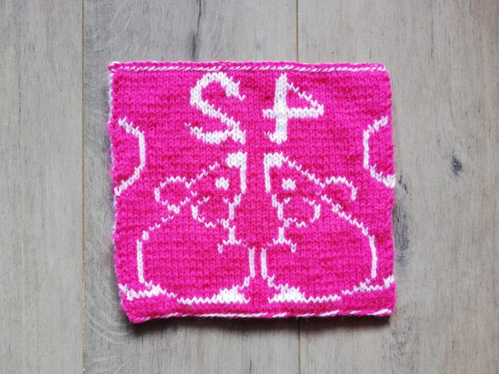 carré couverture 42 Voyageur intergalactique au tricot