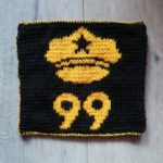 Carré brooklyn 99 au tricot