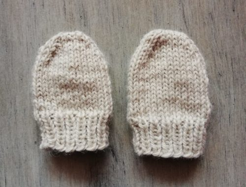 mini moufles tricot