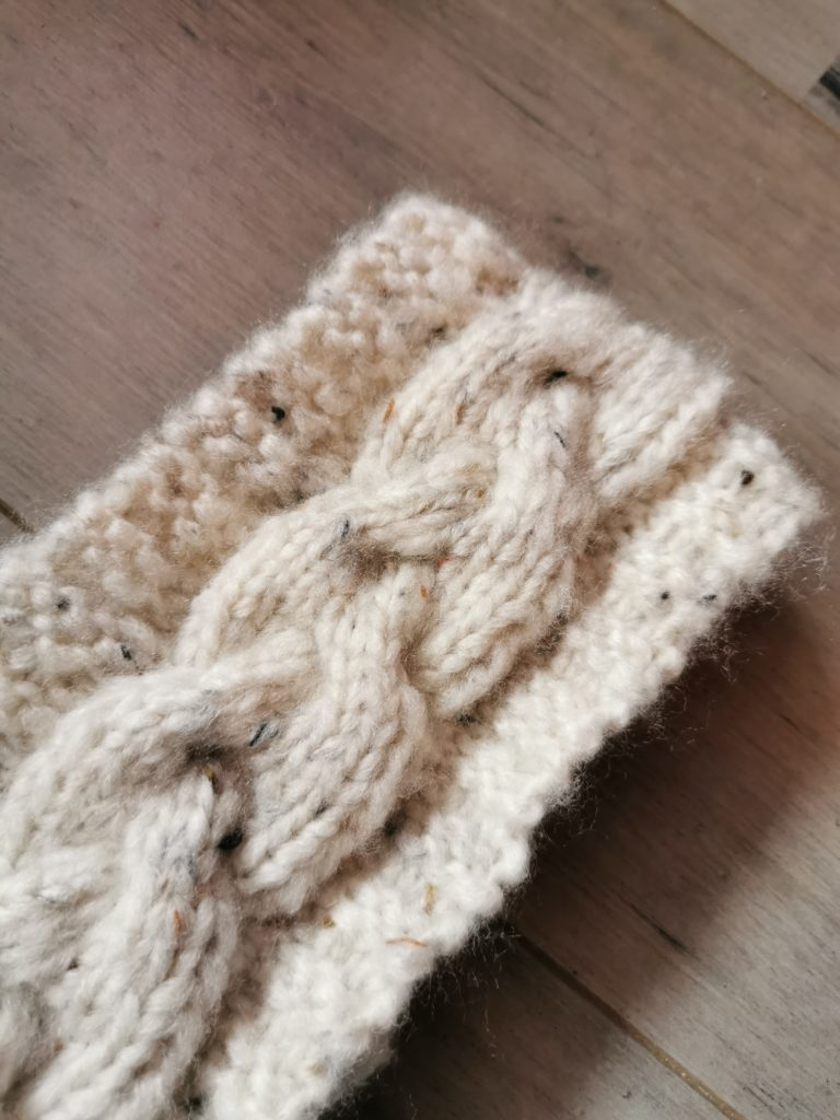bandeau tricot torsade tresse